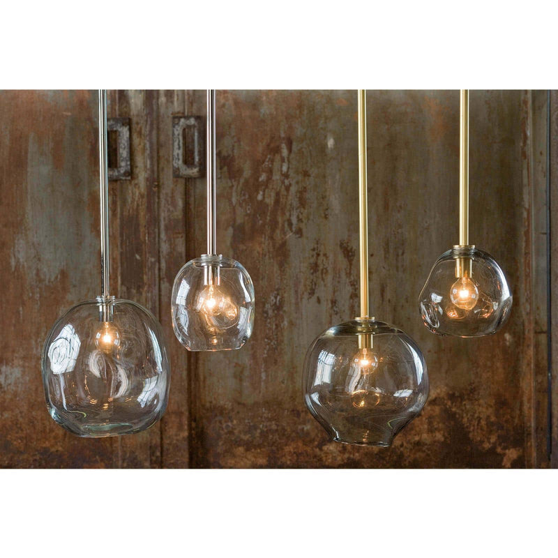Regina Andrew Molten Pendant Small With Smoke Glass (Natural Brass)-Ceiling Fixtures-Iron Home Concepts