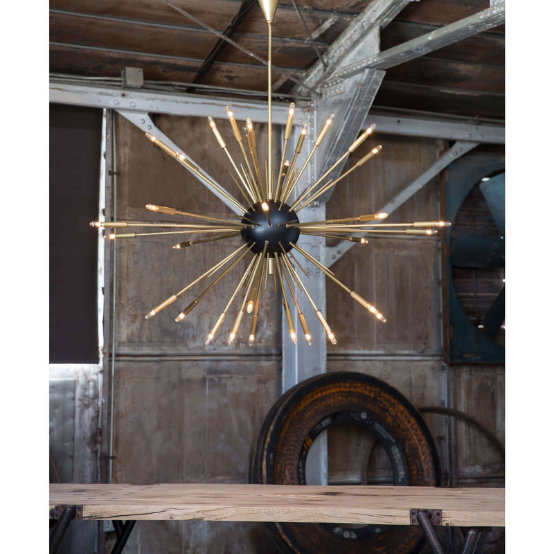 Regina Andrew Nebula Chandelier Large (Black and Natural Brass)-Ceiling Fixtures-Iron Home Concepts