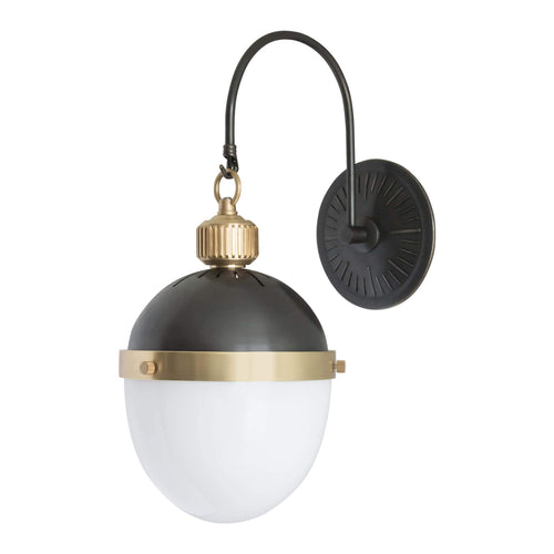 Regina Andrew Otis Sconce (Blackened Brass and Natural Brass)-Wall Sconces-Iron Home Concepts