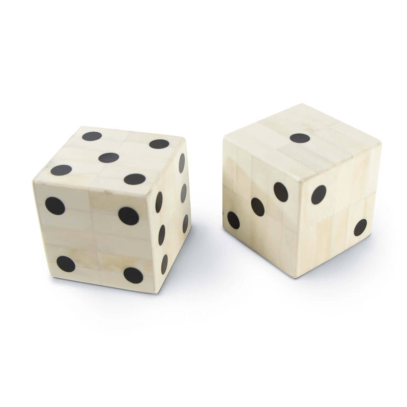 Regina Andrew Oversized Bone Gaming Dice Pair-Sculptural Objets-Iron Home Concepts
