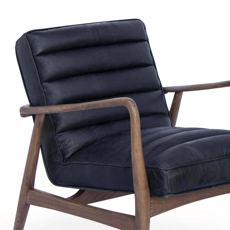 Regina Andrew Piper Chair (Antique Black Leather)-Seating-Iron Home Concepts