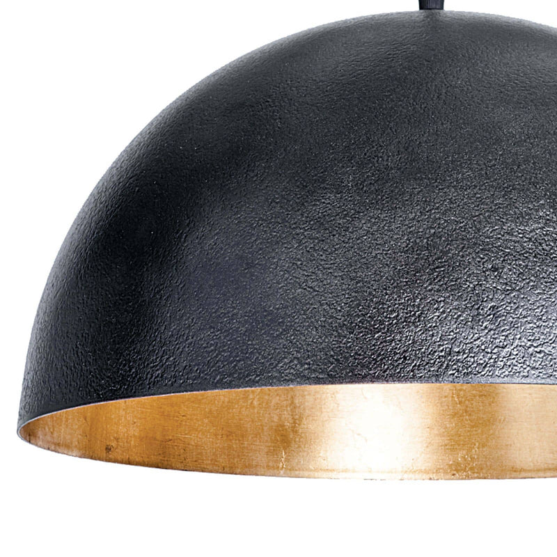 Regina Andrew Sigmund Pendant Small (Black and Gold)-Ceiling Fixtures-Iron Home Concepts