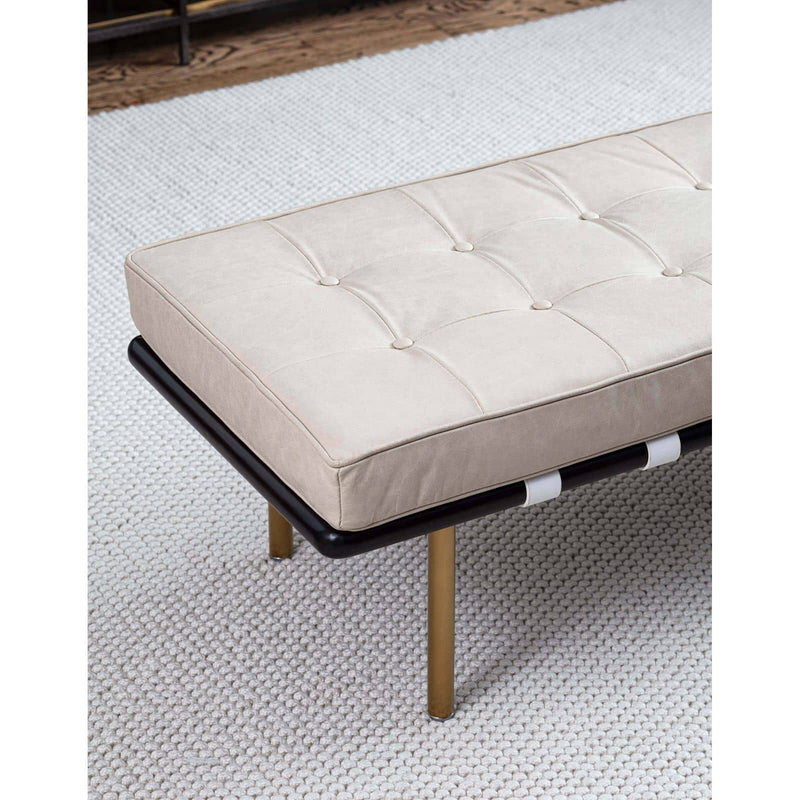 Regina Andrew Tufted Gallery Bench (Cappuccino)-Seating-Iron Home Concepts