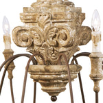 Regina Andrew Wood Carved Chandelier-Ceiling Fixtures-Iron Home Concepts