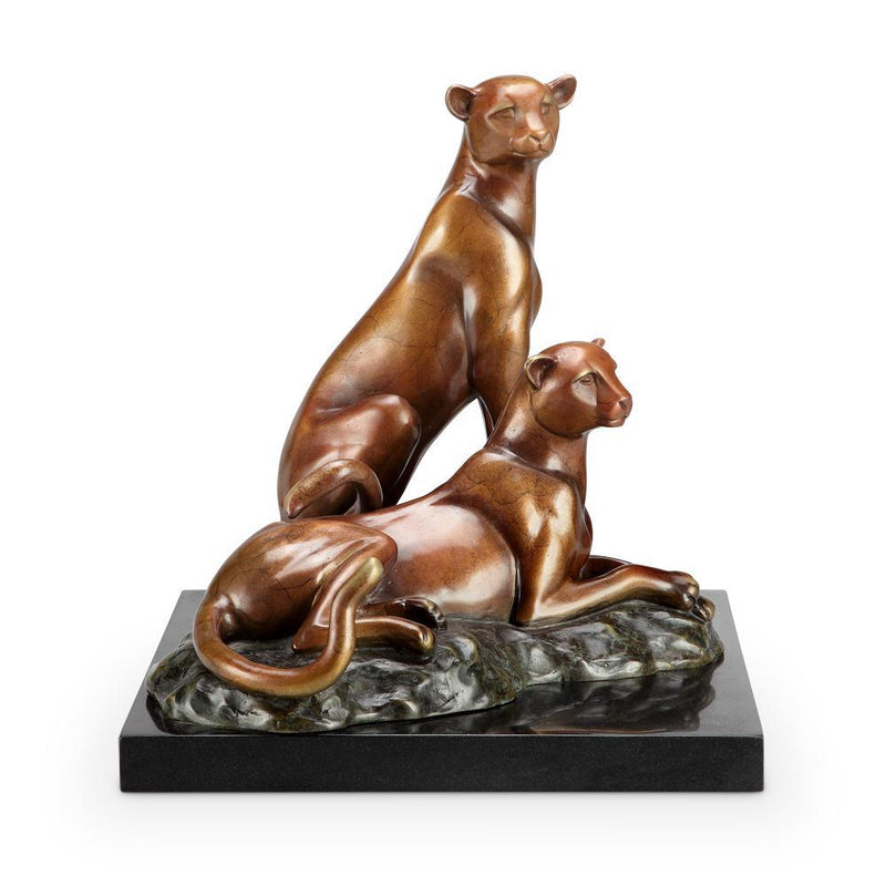 SPI Home Alert Cheetah Statue-Iron Home Concepts