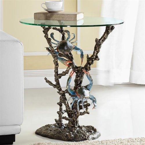 SPI Home Crabs & Coral End Table-Iron Home Concepts