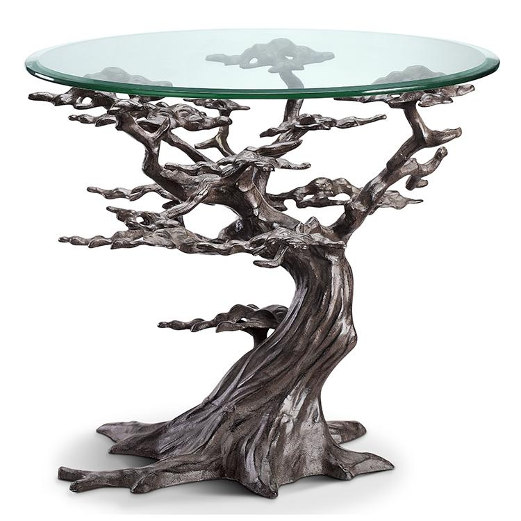 SPI Home Cypress Tree End Table-Iron Home Concepts