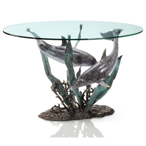 SPI Home Dolphin Duet Coffee Table-Iron Home Concepts