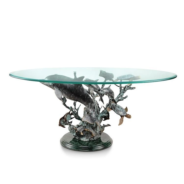 SPI Home Dolphin Seaworld Coffee Table-Iron Home Concepts