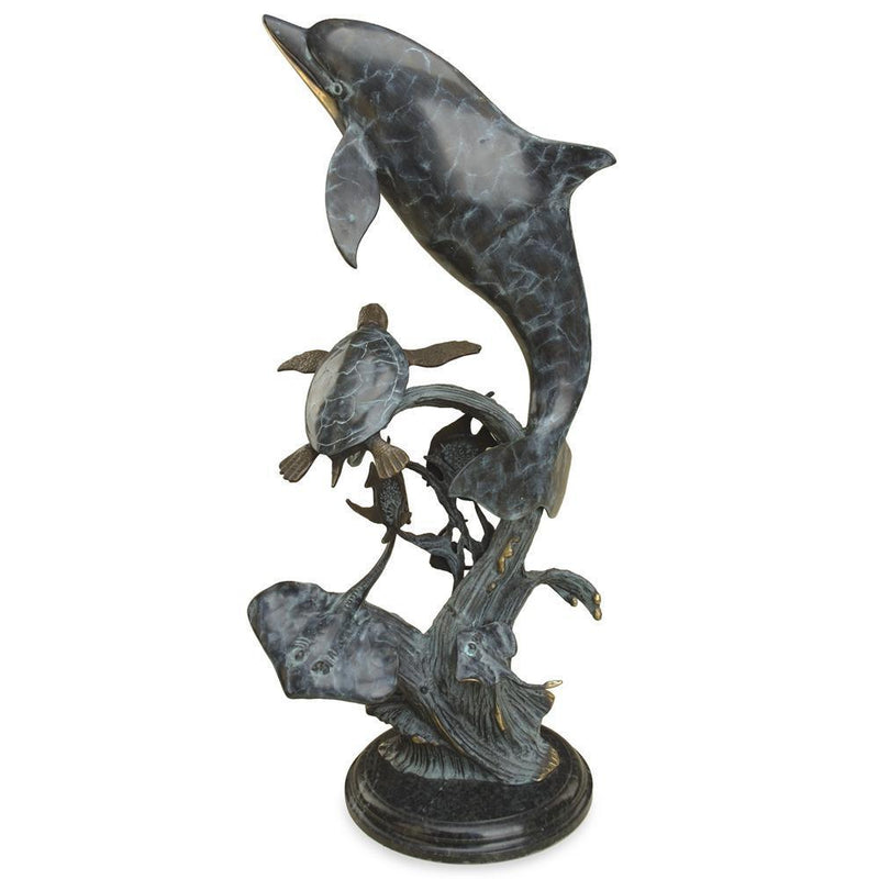 SPI Home Dolphin Seaworld Statue-Iron Home Concepts