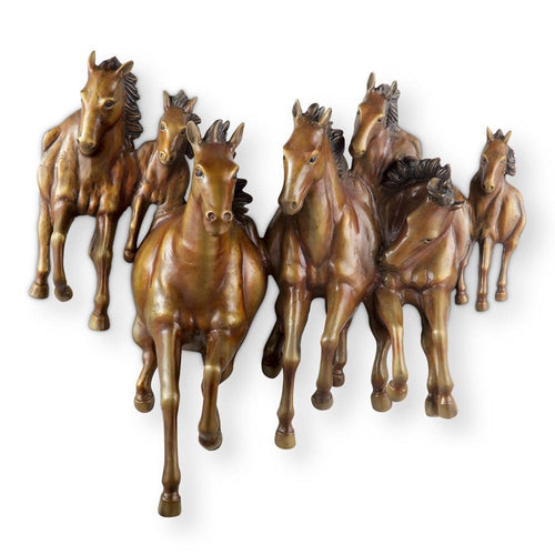 SPI Home Galloping Horses Wall Plaque-Iron Home Concepts