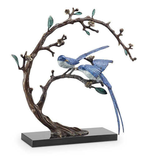 SPI Home Good Tidings Bird Pair Statue-Iron Home Concepts