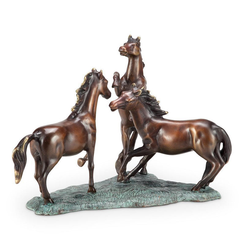 SPI Home Prairie Dance Horse Trio-Iron Home Concepts