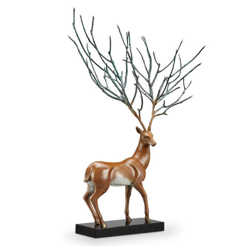 SPI Home Proud Stag Deer Statue-Iron Home Concepts
