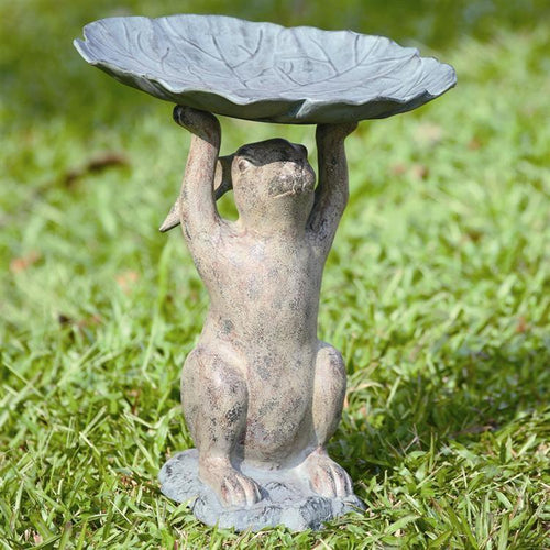 SPI Home Rabbit Birdbath-Iron Home Concepts