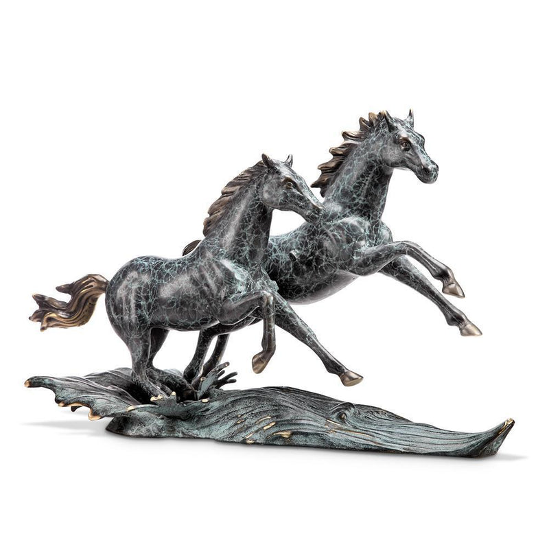 SPI Home Range Runners Horse Pair-Iron Home Concepts