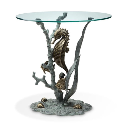 SPI Home Seahorse End Table-Iron Home Concepts