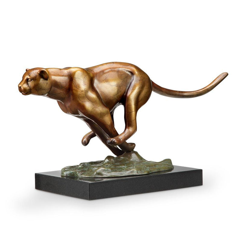 SPI Home Speed Cheetah Statue-Iron Home Concepts