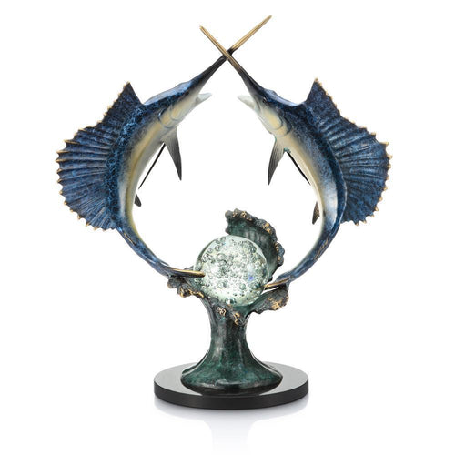 SPI Home Underwater Duel Sailfish with LED Light-Iron Home Concepts