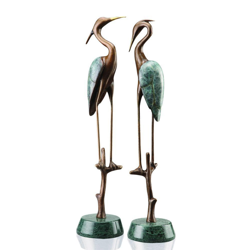 SPI Home Wetlands Heron Pair-Iron Home Concepts