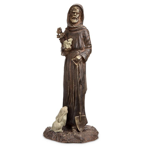 St Fiacre and Friends Garden Statue-Iron Home Concepts