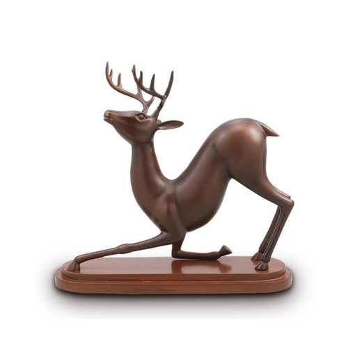 Stretching Deer Desktop Decor-Iron Home Concepts