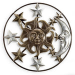 Sun Moon and Stars Wall Plaque-Iron Home Concepts