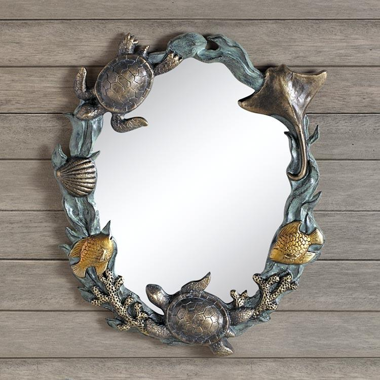 Turtles and Sealife Wall Mirror-Iron Home Concepts