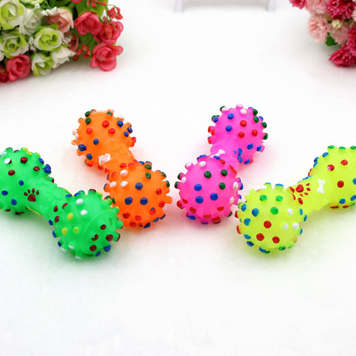 Polka Dot Dumbbell Chew Toy