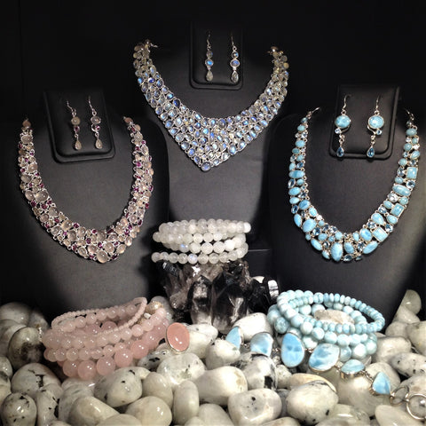 RocksandGemsCanada, Necklace Sets, Gems, Crystals