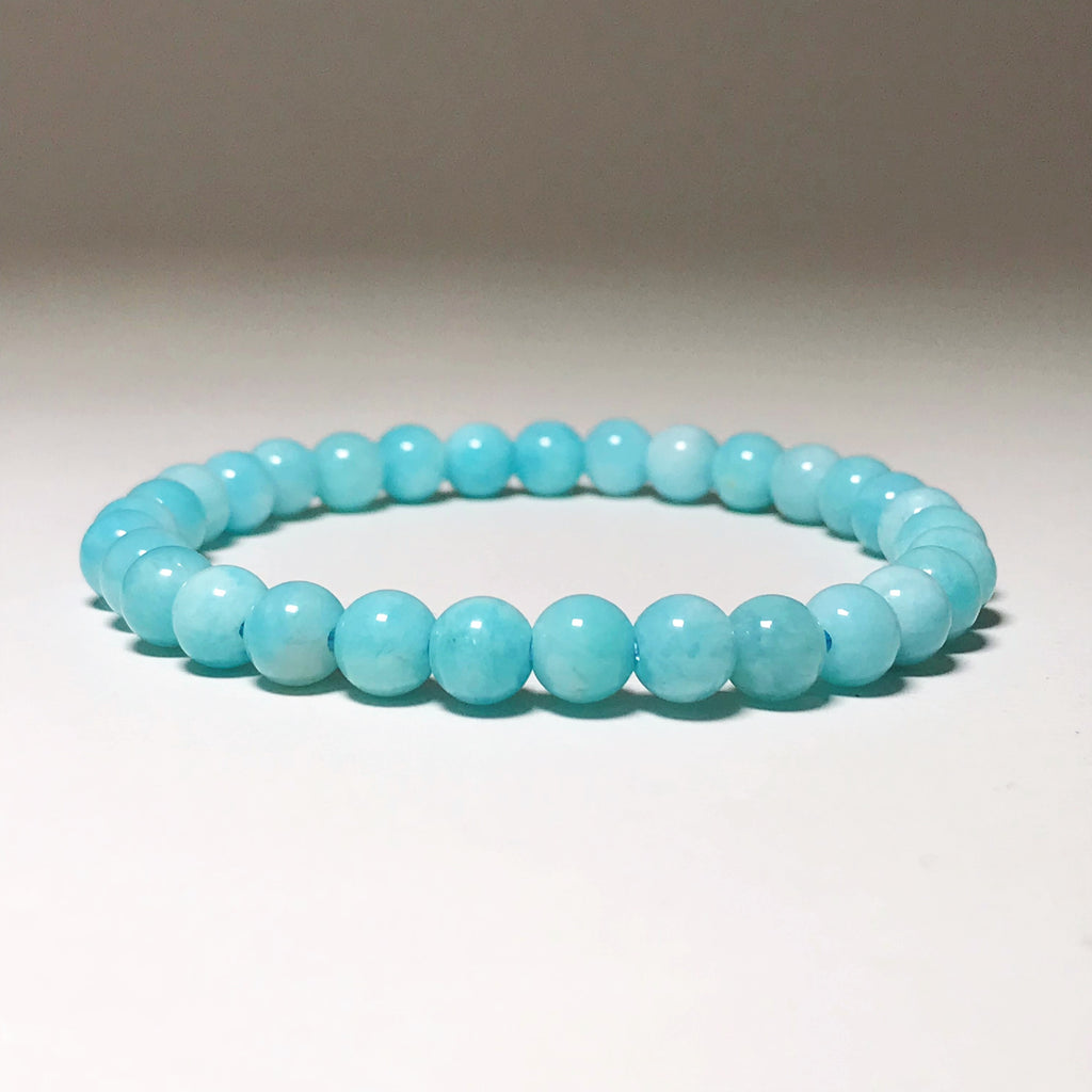 Amazonite Beaded Bracelet 6mm - High Quality