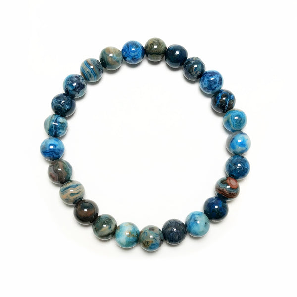 Blue Crazy Lace Agate Beaded Bracelet