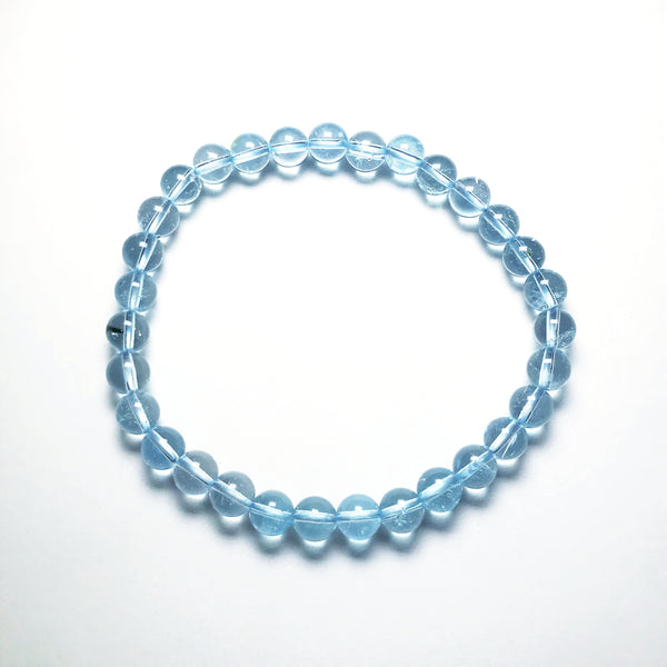 Blue Topaz Beaded Bracelet - High Quality