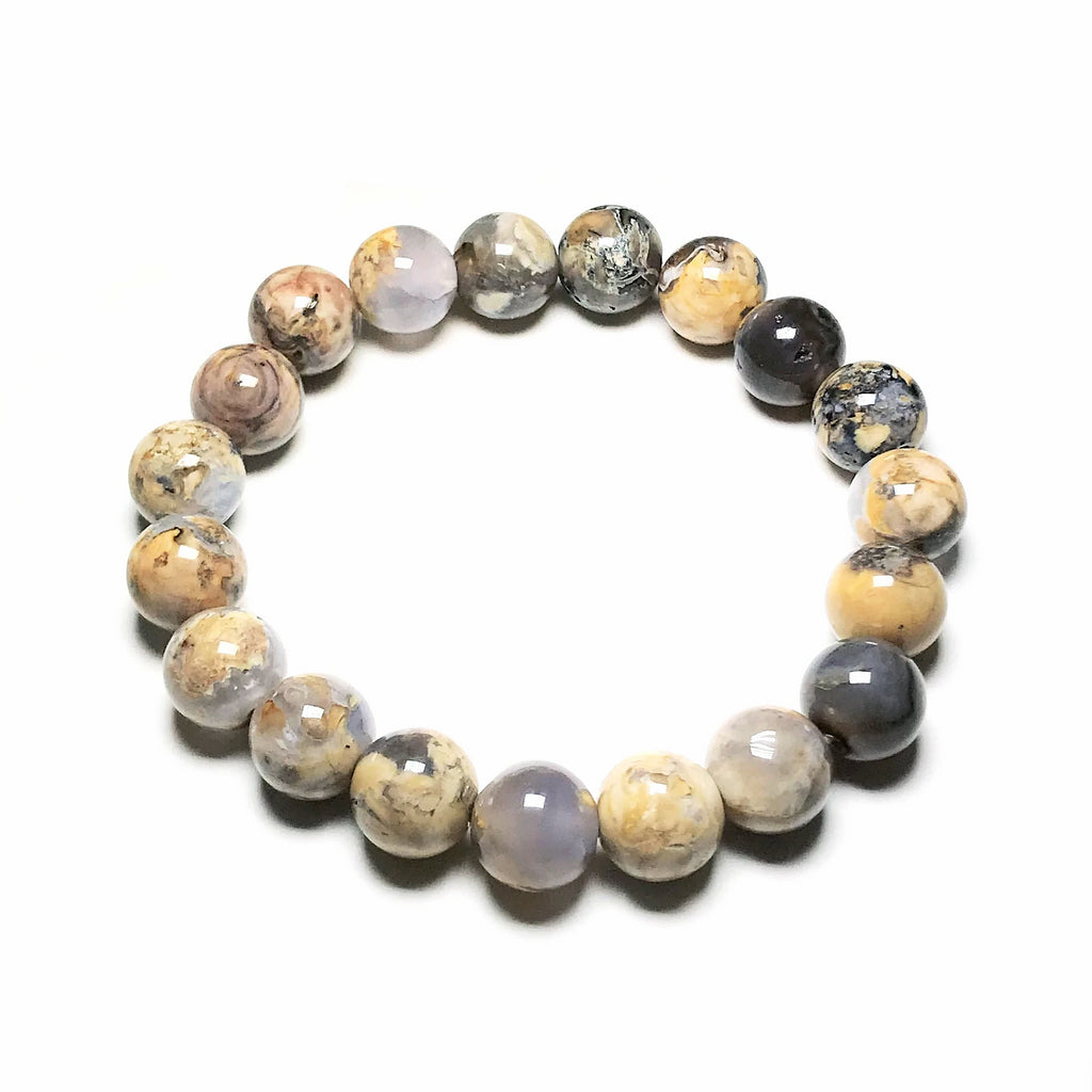 Chalcedony Beaded Bracelet-10mm- High Quality
