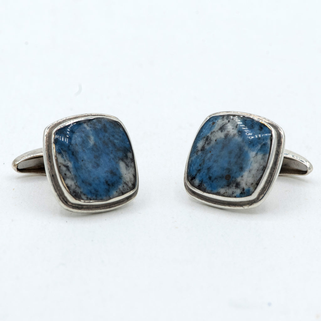 K2 Granite Azurite Cufflinks