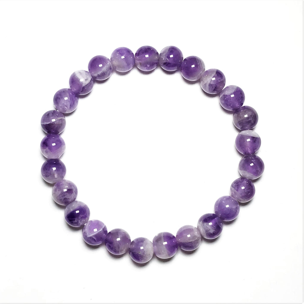 Dogtooth Amethyst Beaded Bracelet