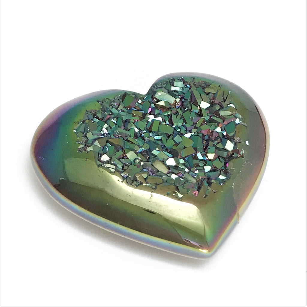 Enhanced Druzy Hearts