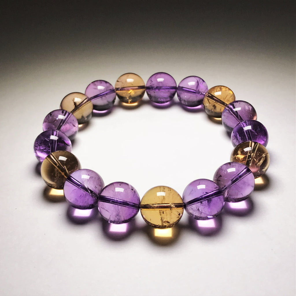 Endless Beaded Bracelet Ametrine 12mm