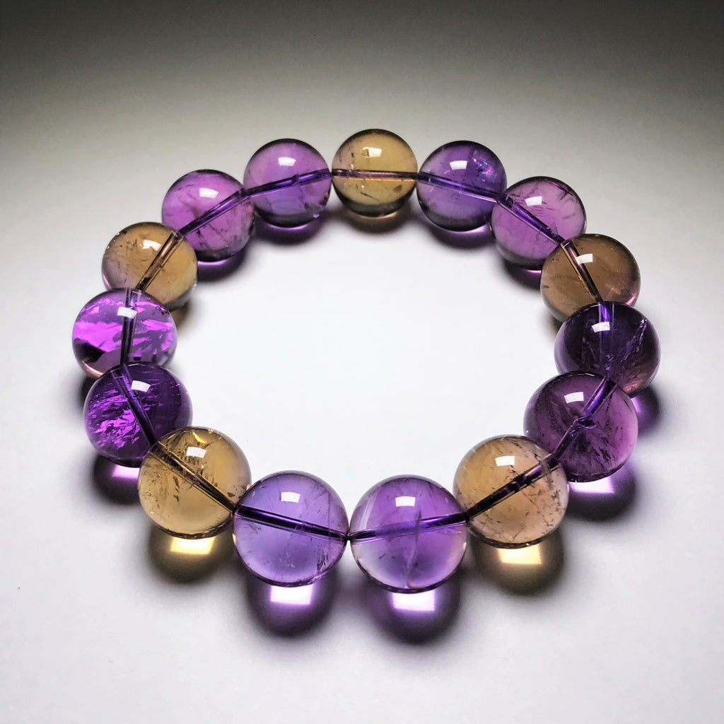 Ametrine Beaded Bracelet - 14mm