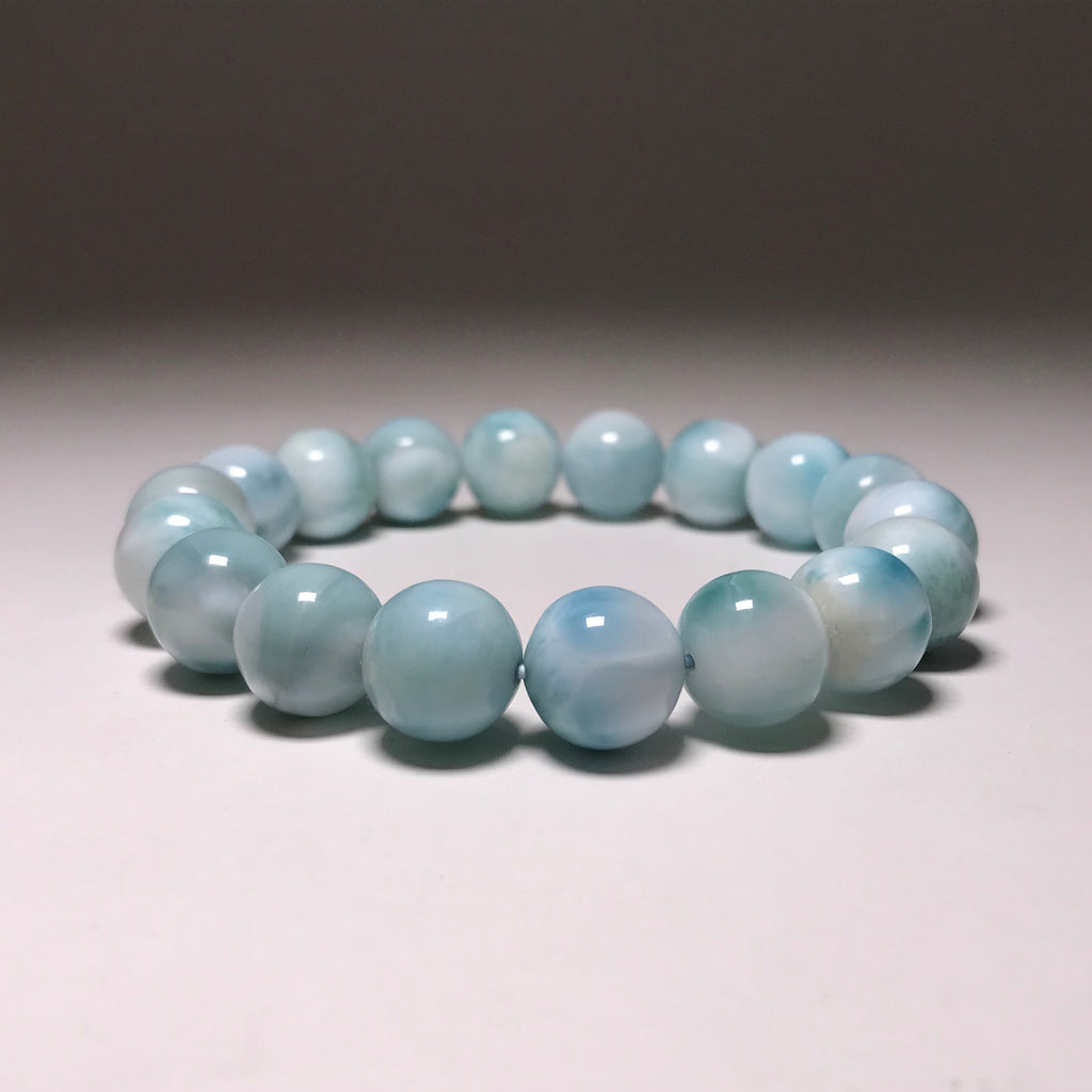Larimar Beaded Bracelet - 12mm