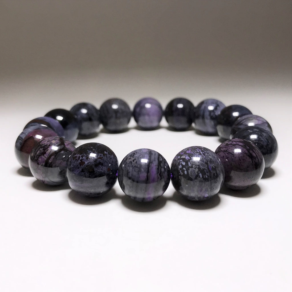 Sugilite Beaded Bracelet - 13mm