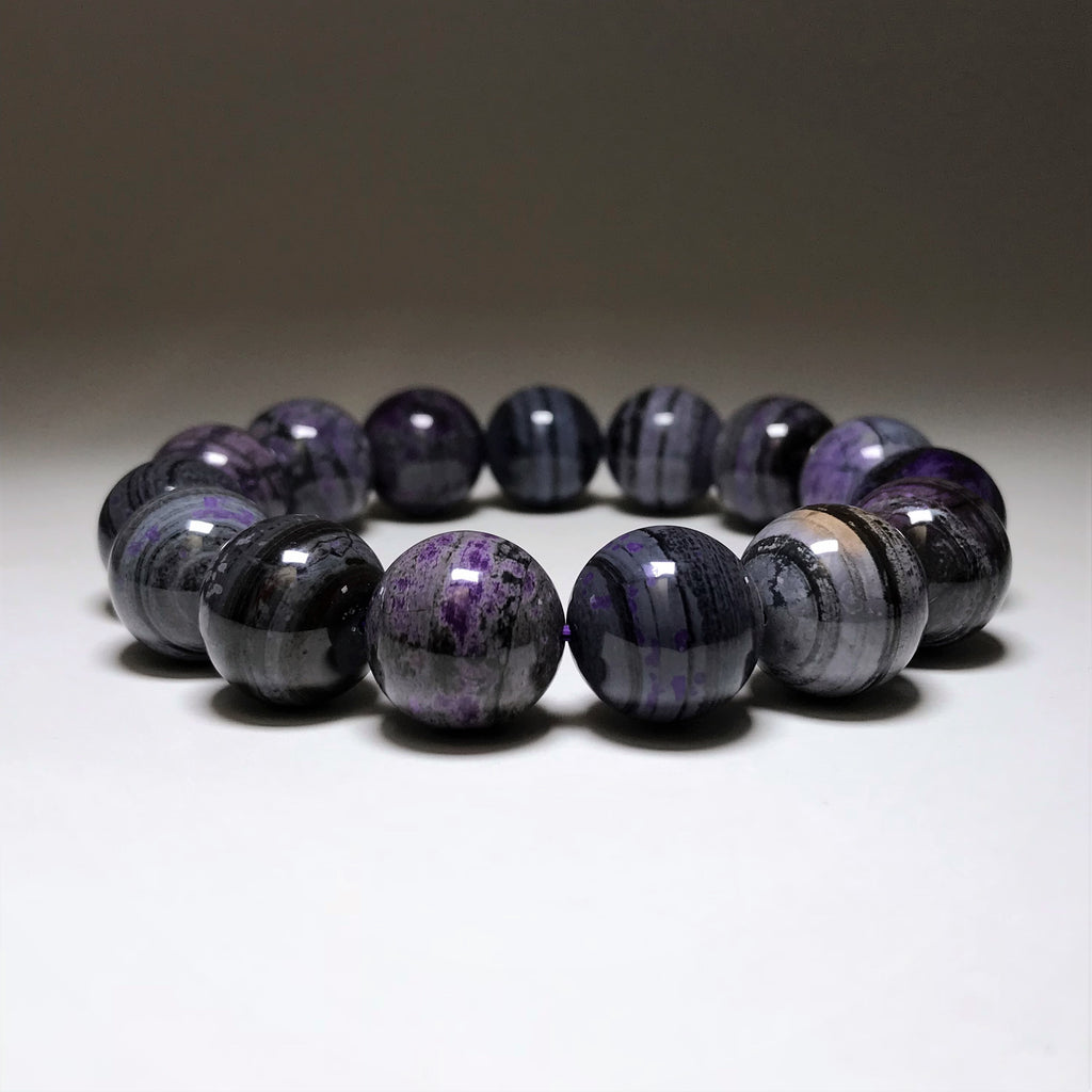 Endless Beaded Bracelet Sugilite 16mm