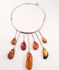Necklace Multistone Amber