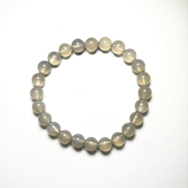 Natural Agate Beaded Bracelet