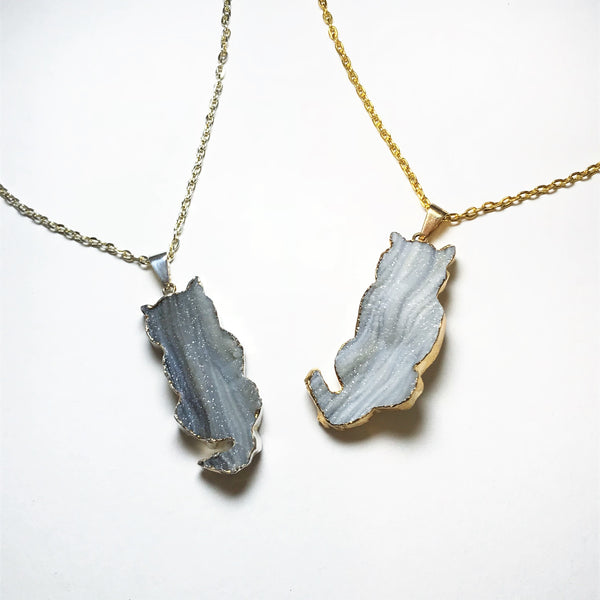 Geode Cat Necklace