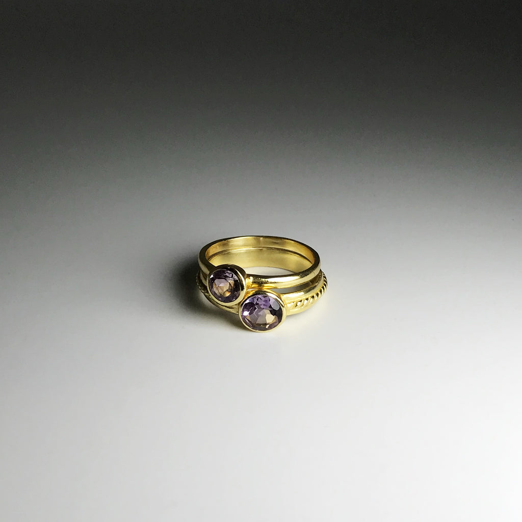 Double Ring Amethyst