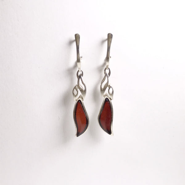 Amber Cherry Earrings