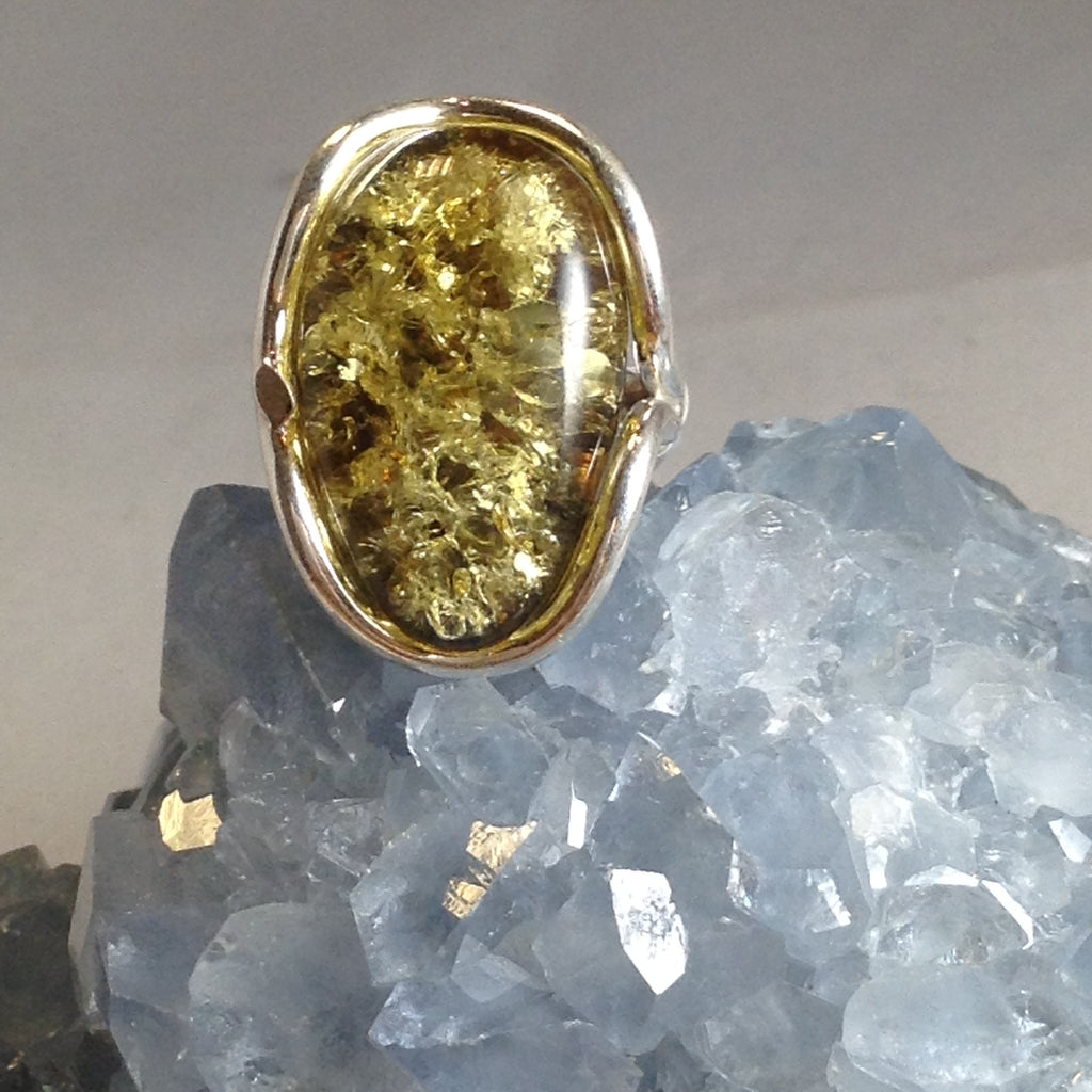 Ring Amber Green