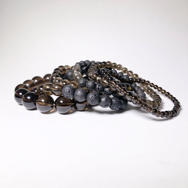 Smoky Quartz Beaded Bracelet