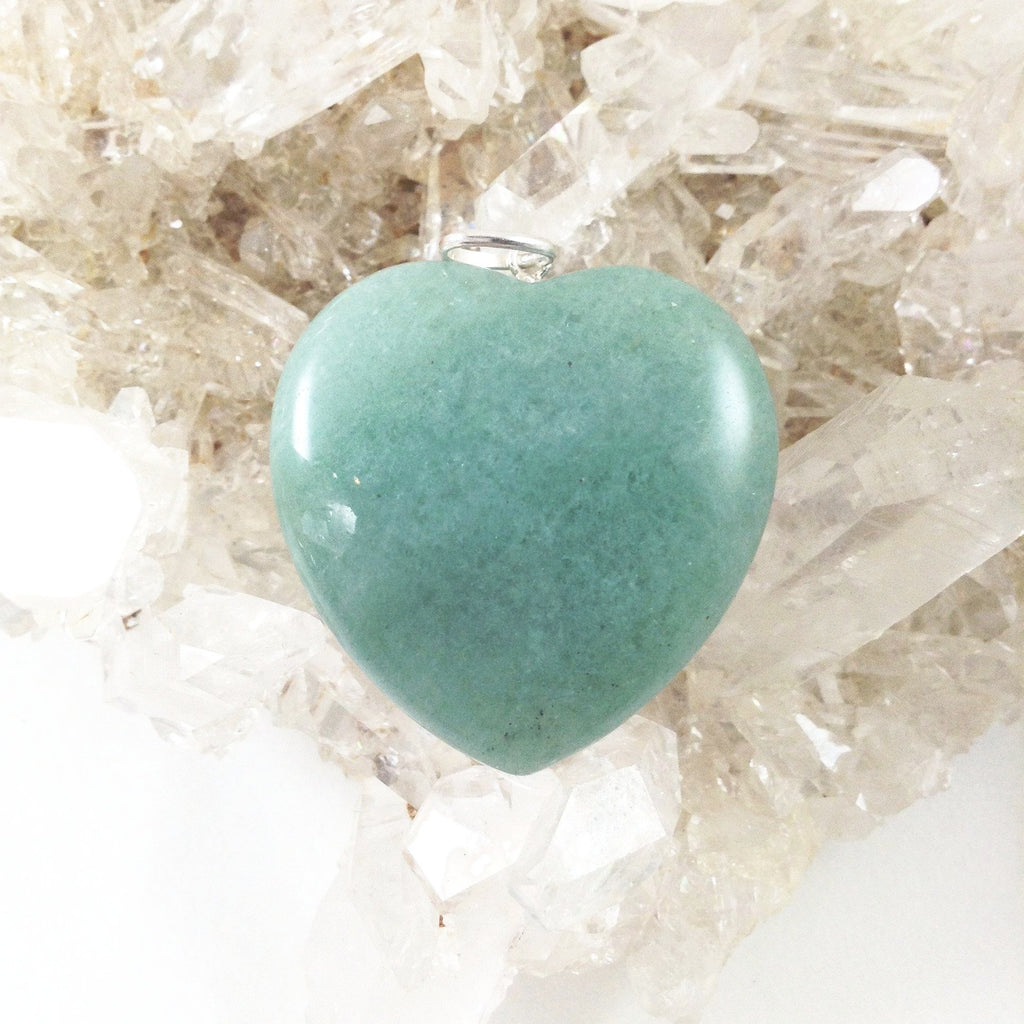 Pendant Green Aventurine Heart - Large